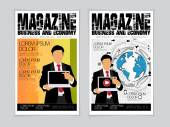 Business magazine covers — Stock Vector