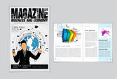 Business magazine layout — Stock Vector