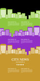 Infographic template with cityscape — Stock Vector