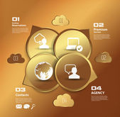 Cloud infographics — Stock Vector