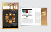 Layout of business magazine — Vettoriale Stock