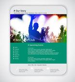 Web site design mall — Stockvektor