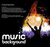 Music dance background — Stock Vector