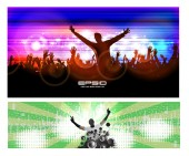 Night party background — Stock Vector