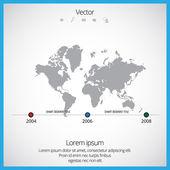 Mapa mundial de — Vector de stock