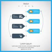 Vector infographic — Stock Vector