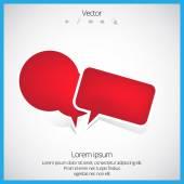 Bubble speech vector — Stock Vector