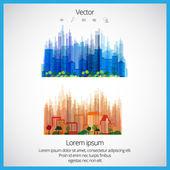 Creative urban landscape — Stock Vector