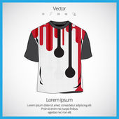 Man's t-shirt design — Vector de stock