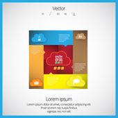 Cloud computing technology design — Stock Vector