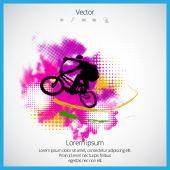 Bmx cyklist — Stockvektor
