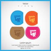 Satisfaction labels — Stock Vector