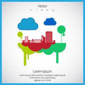 Paysage urbain créatif — Vecteur