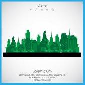 Paisaje urbano creativo — Vector de stock