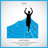 Runner illustration — Stock Vector