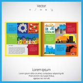 Rozložení časopis — Stock vektor
