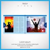 Lay-out magazine — Stockvector