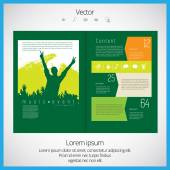 Open Magazine — Stock Vector