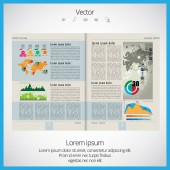 Layout magazine — Stock Vector