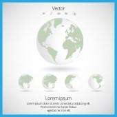 Mapa do mundo — Vetor de Stock
