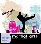 Karate illustratie — Stockvector
