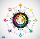 Timeline Infographic illustration — Vector de stock