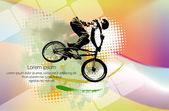 BMX biker illustration — Stock Vector