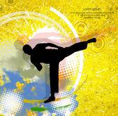 Karate-Abbildung — Stockvektor