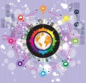 Illustration infographic — Stockvector