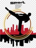 Karate illustartion — Stock Vector