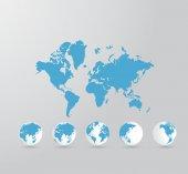 Fondo de mapa de mundo — Foto de Stock