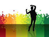 Background with dancing girl — Stock Photo