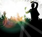 Concert background illustration — Stock Photo