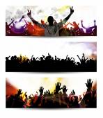 Banner of music party event — Stock Photo