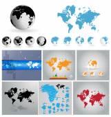 Ilustração de mapa do mundo — Fotografia Stock