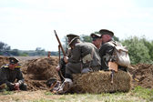 Military reconstruction in Poland. — Stock Photo