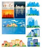 иллюстрация горизонты города — Стоковое фото