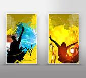 Music event background for poster or banner — ストック写真