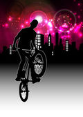 BMX rider illustration — Stock Photo