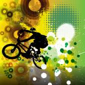 Biker on bicycle Illustration — 图库照片