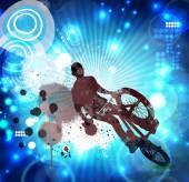 BMX rider illustration — Stok fotoğraf