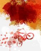 Biker illustration — Stock Photo