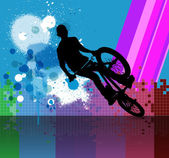 BMX rider illustration — Stockfoto