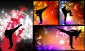 Karate illustration — Stock Photo