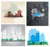 Urban landscape background — Stock Photo