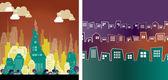 Stadtlandschaft-Hintergrund — Stockfoto