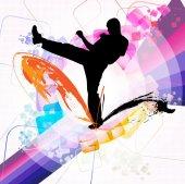 Karate illustration — Stockfoto