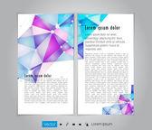 Layout brochure illustration — Stock Vector