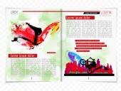 Ilustración revista diseño — Vector de stock