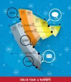 Timeline Infographic illustration — Stock Vector